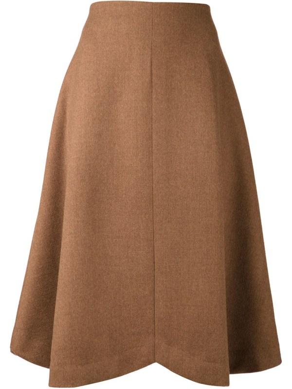 Rodarte -line Skirt In Brown Lyst
