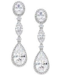 Danori Eliot Silver-tone Oval Crystal Drop Earrings in ...
