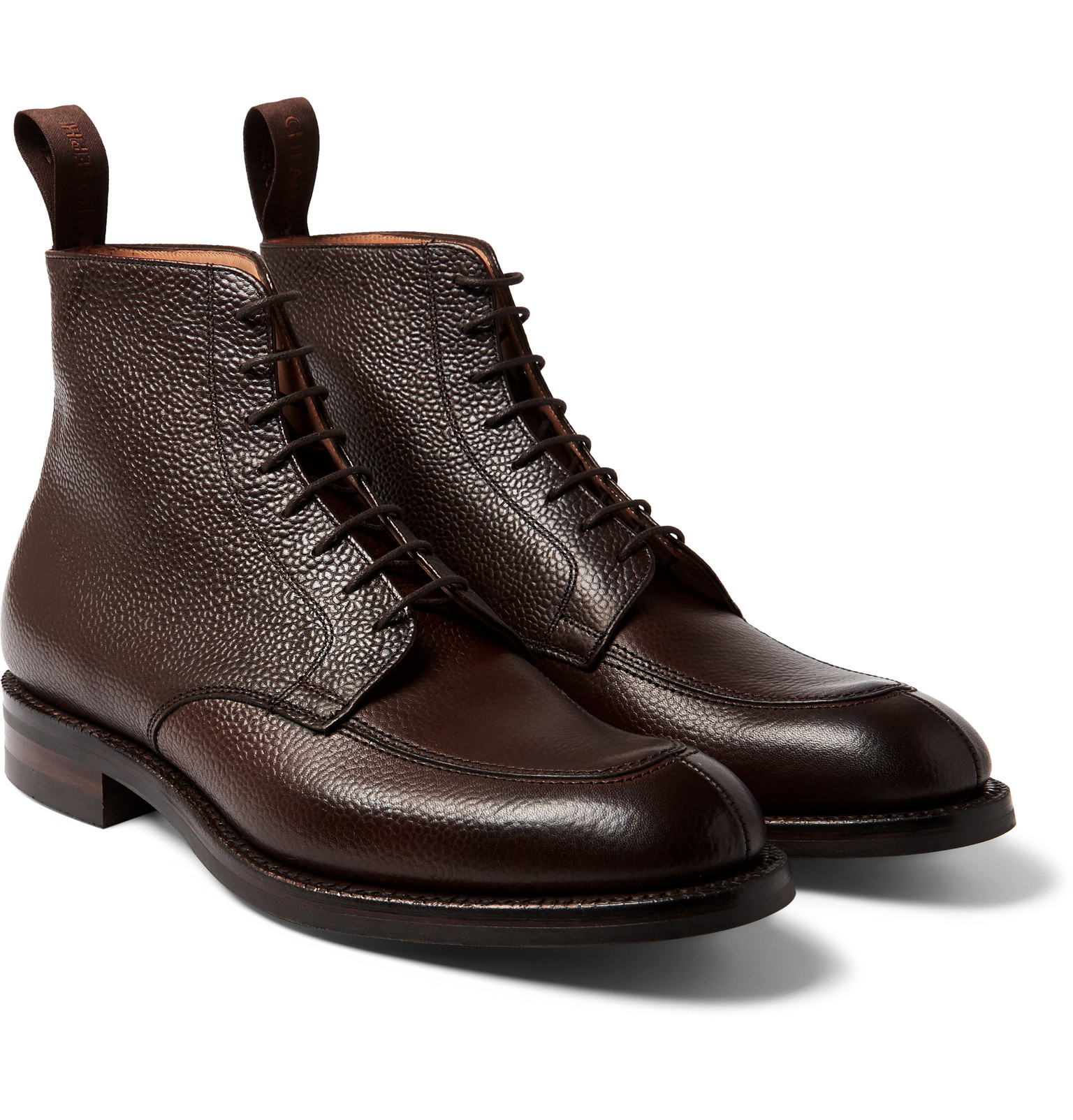 Cheaney Richmond Pebble-grain Leather Boots in Brown for Men - Lyst