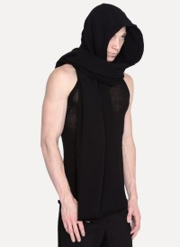 Lyst - Lost And Found Rooms Hooded Scarf in Black for Men
