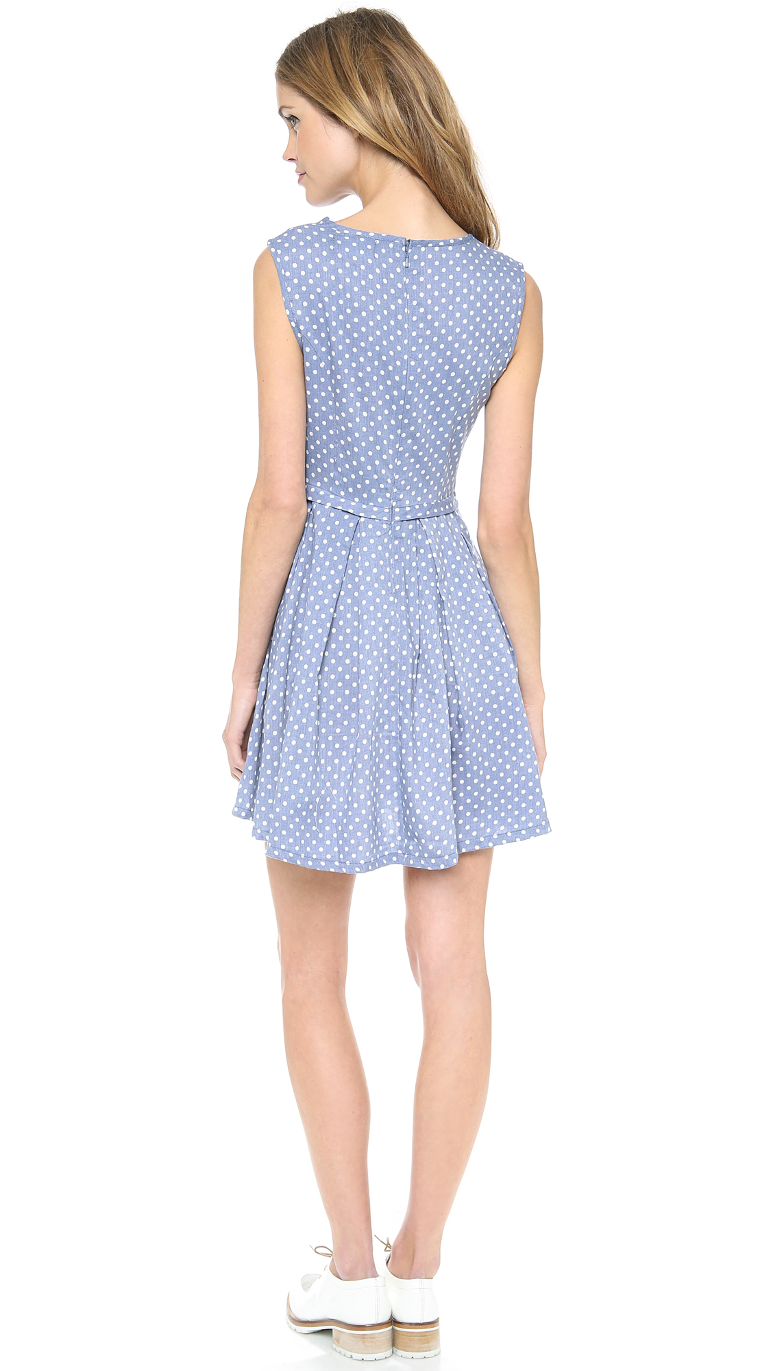 Minkpink Country Girl Dress In Blue