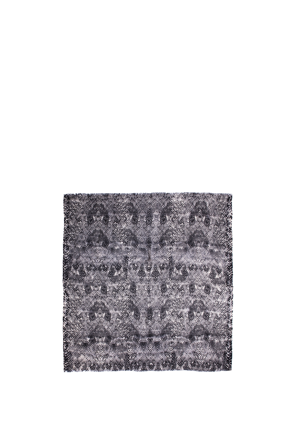 By Malene Birger Printed Wool Ocillio Scarf In Black In