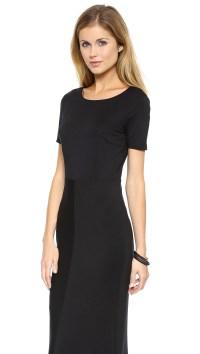 Black Short Sleeve Maxi Dress _Maxi Dresses_dressesss