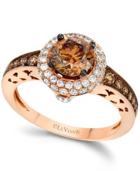 Le vian Chocolate And White Diamond Engagement Ring In 14k ...