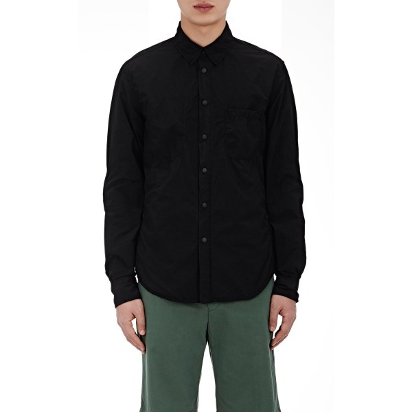 Aspesi Snap-front Shirt In Black Men - Lyst