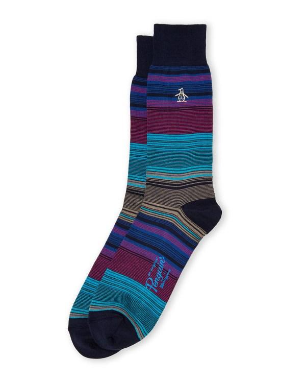 Lyst - Original Penguin Thin Stripe Socks In Blue Men