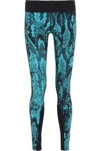 Nike Epic Lux Snake-Print Stretch-Jersey Leggings in Blue ...