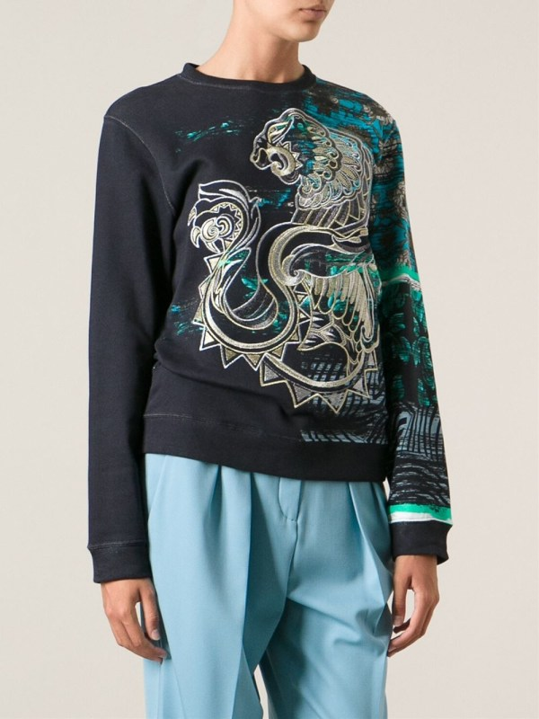 3212b66c Clothing Brand Logo with Lion · Lyst - Roberto Cavalli Lion Embroidered  Sweatshirt