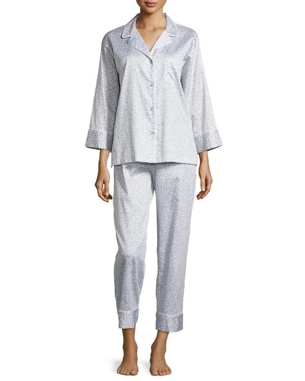 Natori Leopard-print Poplin Pajama Set In Multicolor Lyst