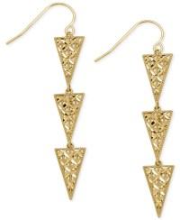 Macy's Triple Triangle Drop Earrings In 14k Gold in ...