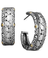 Lyst - Effy Collection Balissima By Effy Engraved Hoop ...