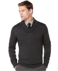 Mens Shawl Collar Sweater Vest