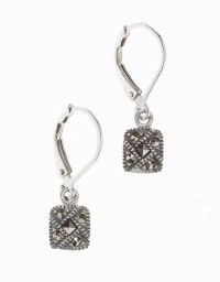 Judith jack Sterling Silver And Crystal Square Drop ...