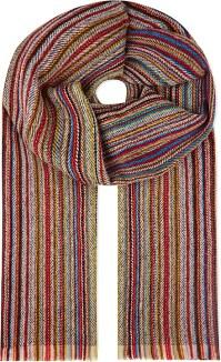 Paul smith Herringbone Multi Stripe Scarf for Men | Lyst