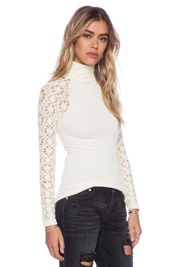 Lyst - Free People Mock Neck Cami In White
