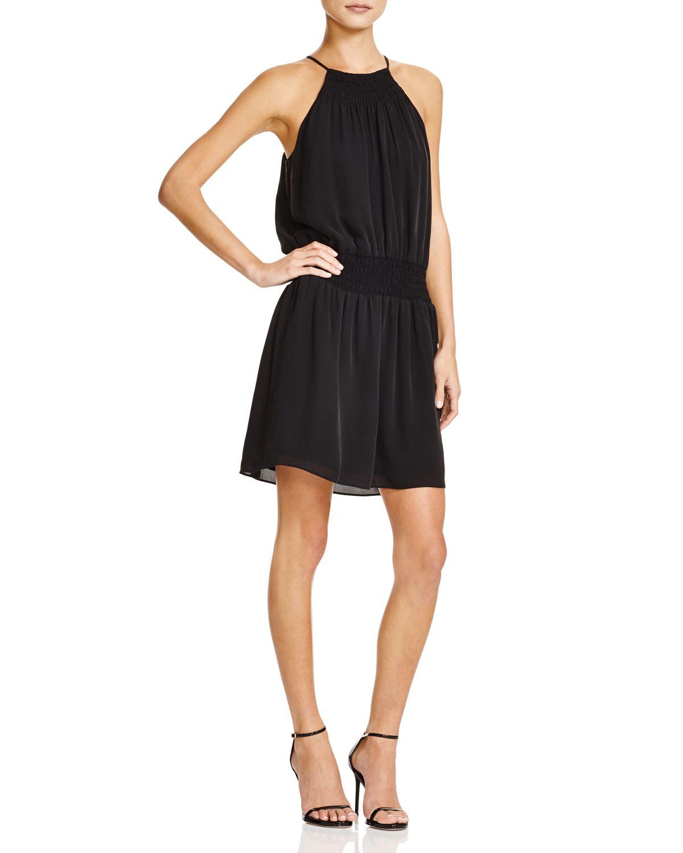 Joie Nahal Silk Georgette Dress In Black Lyst
