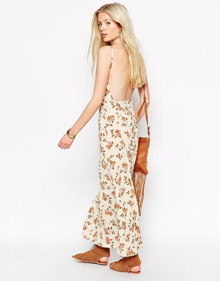 Lyst Asos Maxi Dress In Vintage Floral