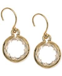 Lyst - Anne Klein Gold-tone Crystal Drop Earrings in Metallic
