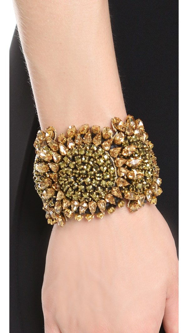 Vera Wang Collection Bracelet - Gold In Black Lyst