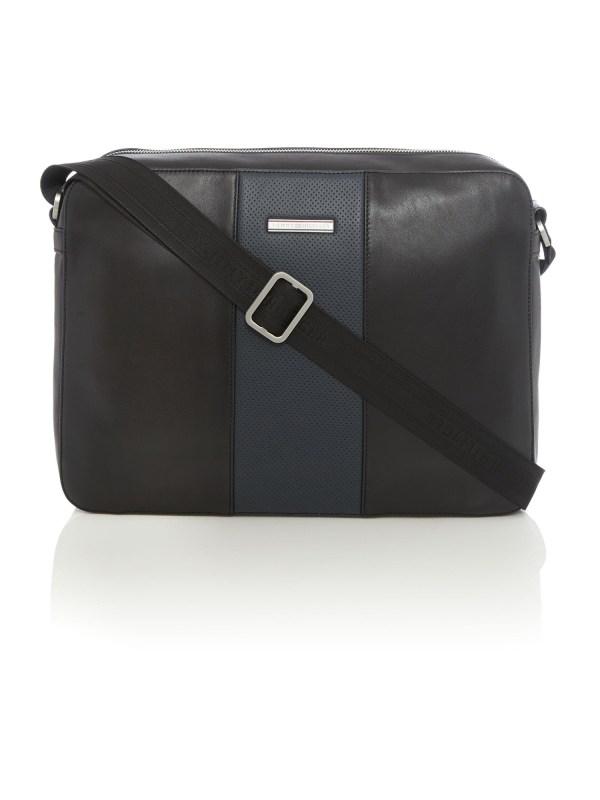 Tommy Hilfiger Leather Messenger Bag In Black Men Lyst