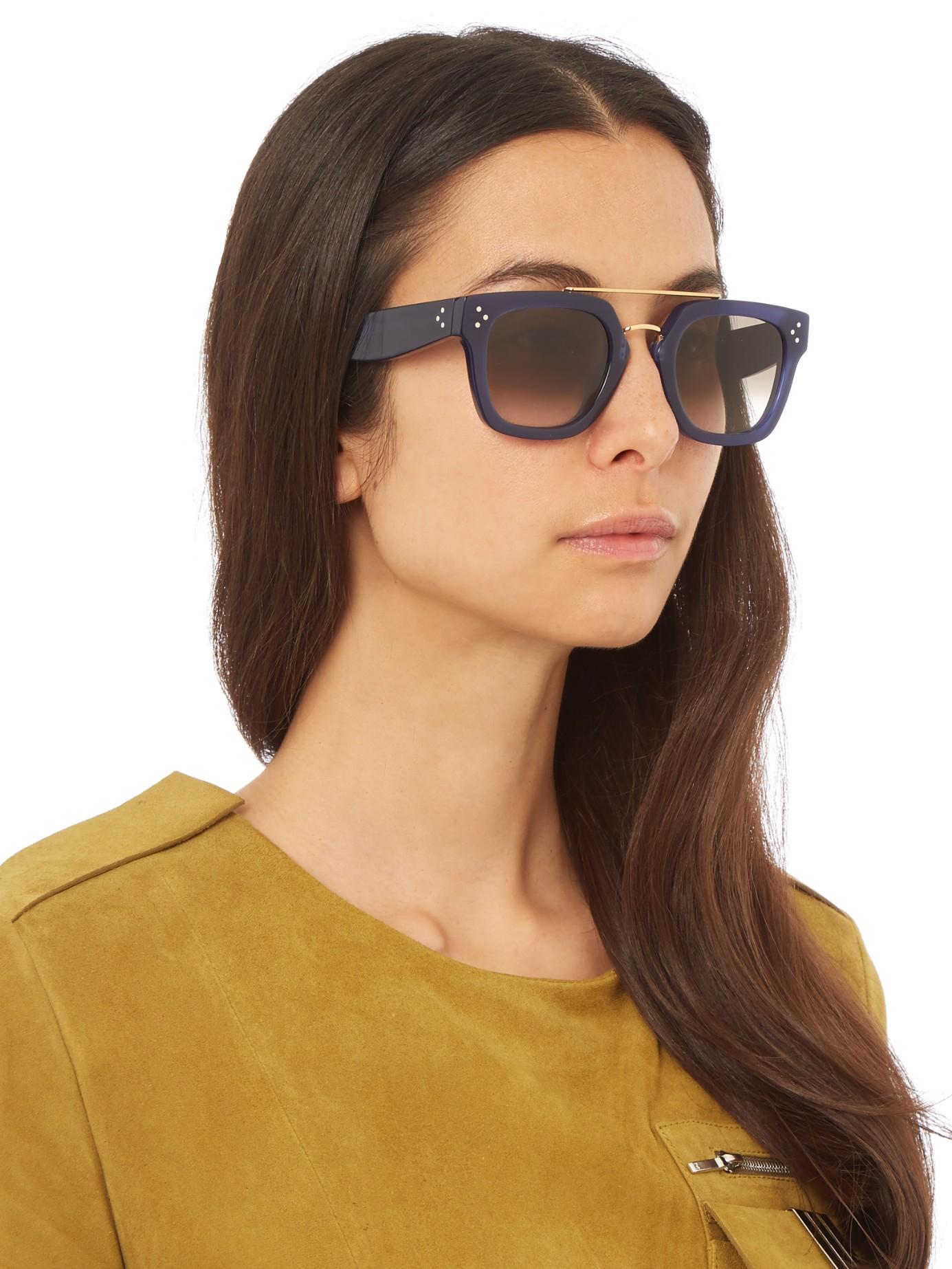 Lyst Cline Aviator Acetate Sunglasses In Blue