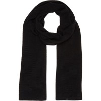 Lyst - River Island Black Knitted Scarf in Black for Men