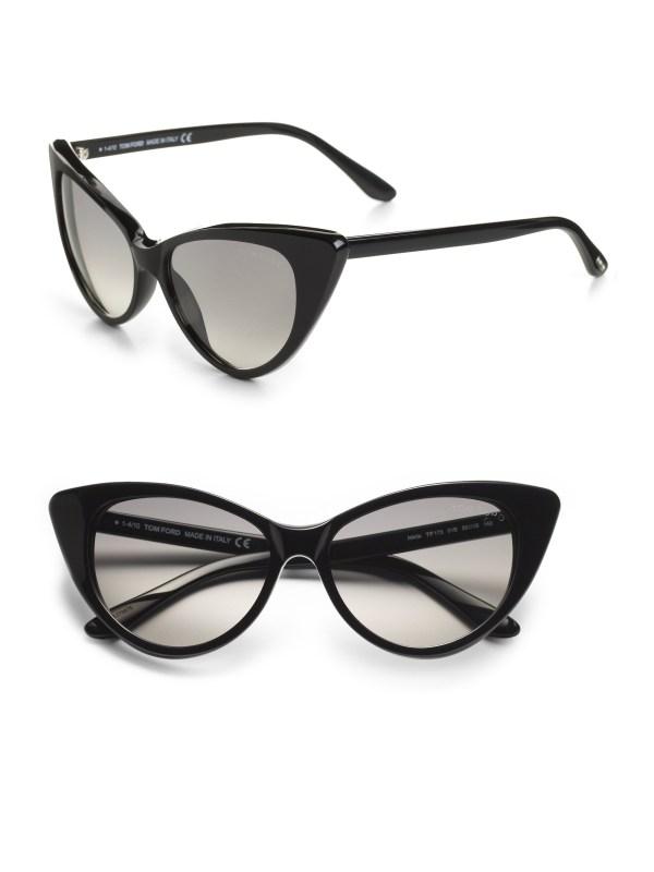 Lyst - Tom Ford Nikita 55mm Cat'-eye Sunglasses Black In