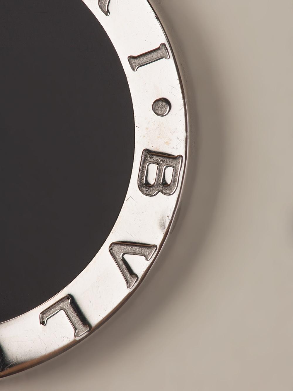 Lyst  Bvlgari Logo Keyring in Black for Men