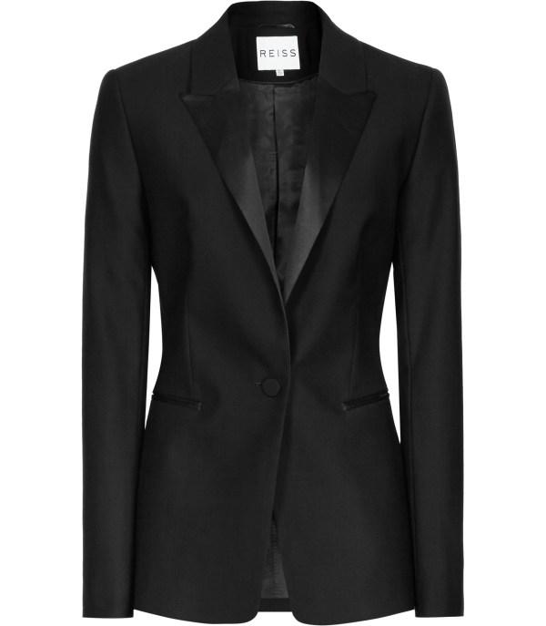 Lyst - Reiss Pfeiffer Slim-fit Wool Blazer In Black