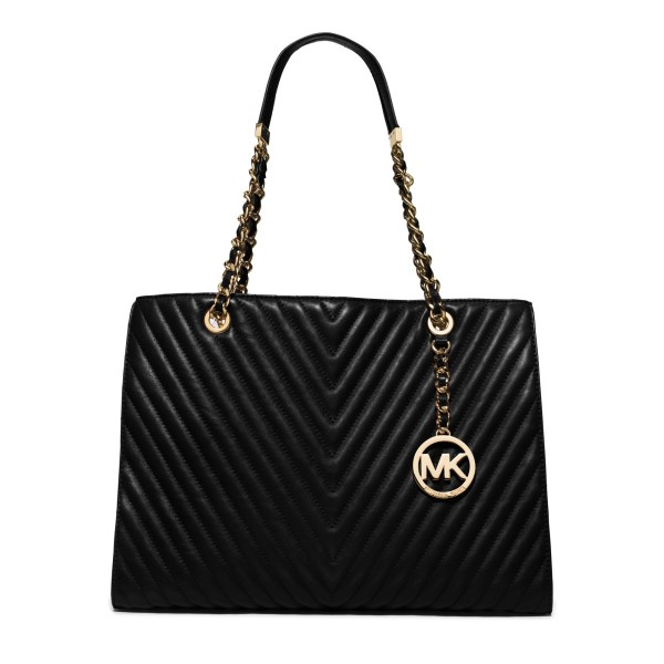 Michael Kors Susannah Large Chevron-quilted Leather Tote