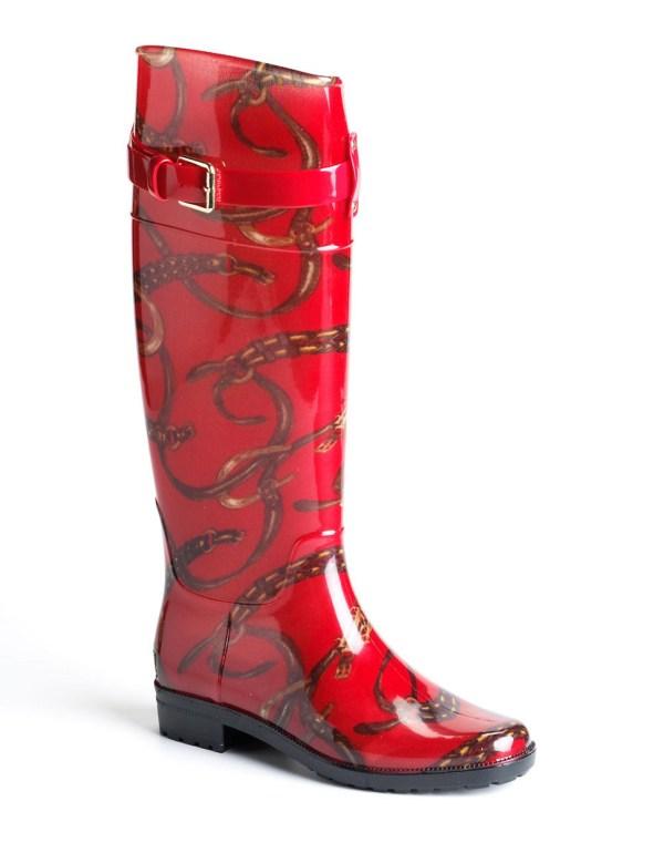 Lauren Ralph Rossalyn Rain Boots In Red Lyst