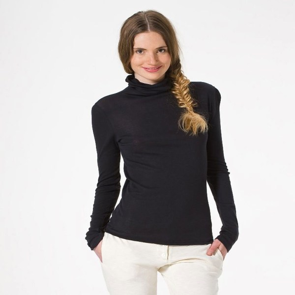 Petit Bateau Women' Light Cotton Turtleneck In Gray Lyst