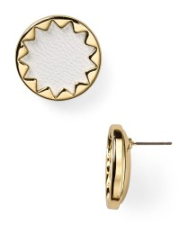 House of harlow 1960 1960 Sunburst Leather Button Earrings ...