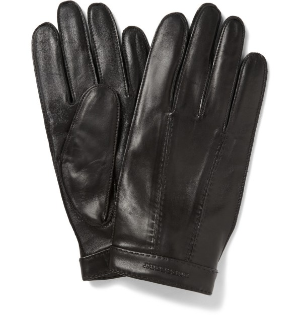 Lyst - Burberry Cashmerelined Leather Gloves In Black Men