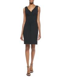 Plus Size V Neck Cocktail Dress - Plus Size Tops