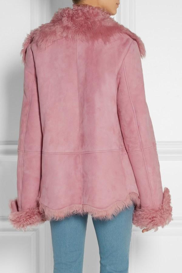 Lyst - Michael Kors Shearling Coat In Pink