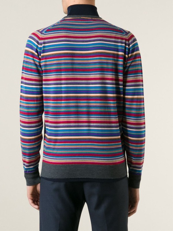 John Smedley Striped Turtleneck Sweater Men - Lyst