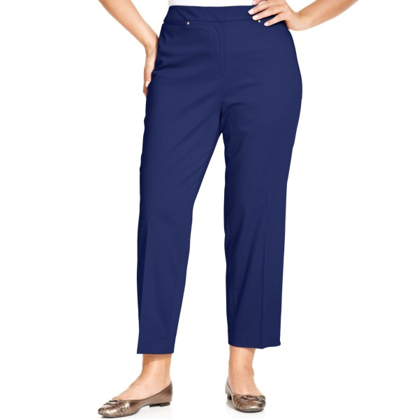 Jones York Collection Size Sloane Anklelength Pants In Blue Navy Lyst