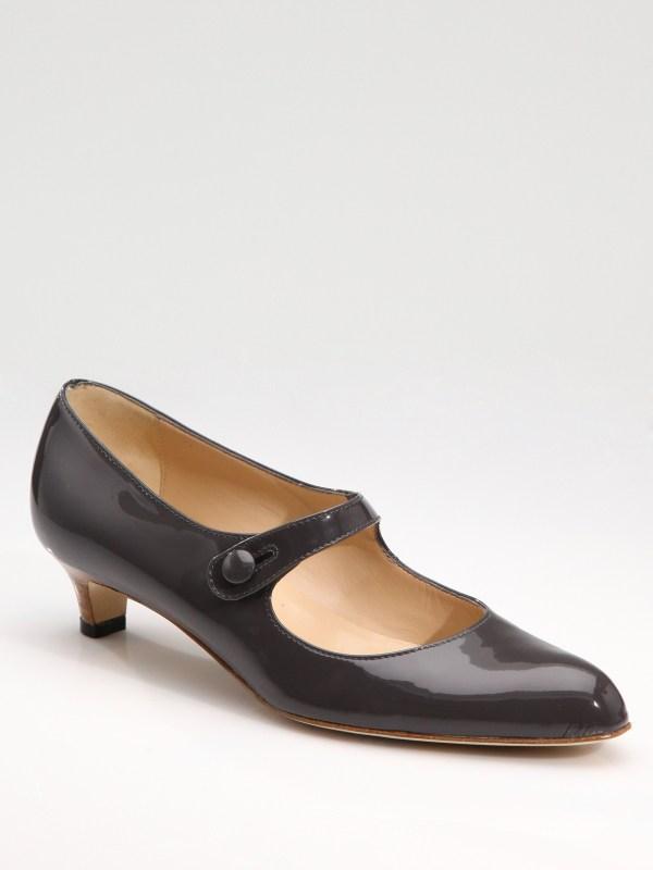 Manolo Blahnik Akkin Patent Leather Mary Jane Pumps In
