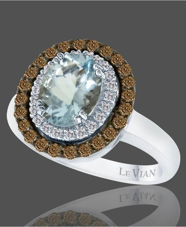 Le Vian Aquamarine 1-2 5 Ct. Chocolate Diamond 1 2 T