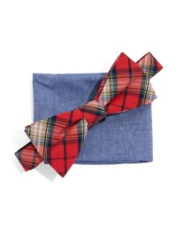 Lyst - Original penguin Bow Tie And Pocket Square Set in ...