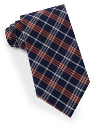 Lord & taylor Plaid Striped Tie in Orange for Men | Lyst