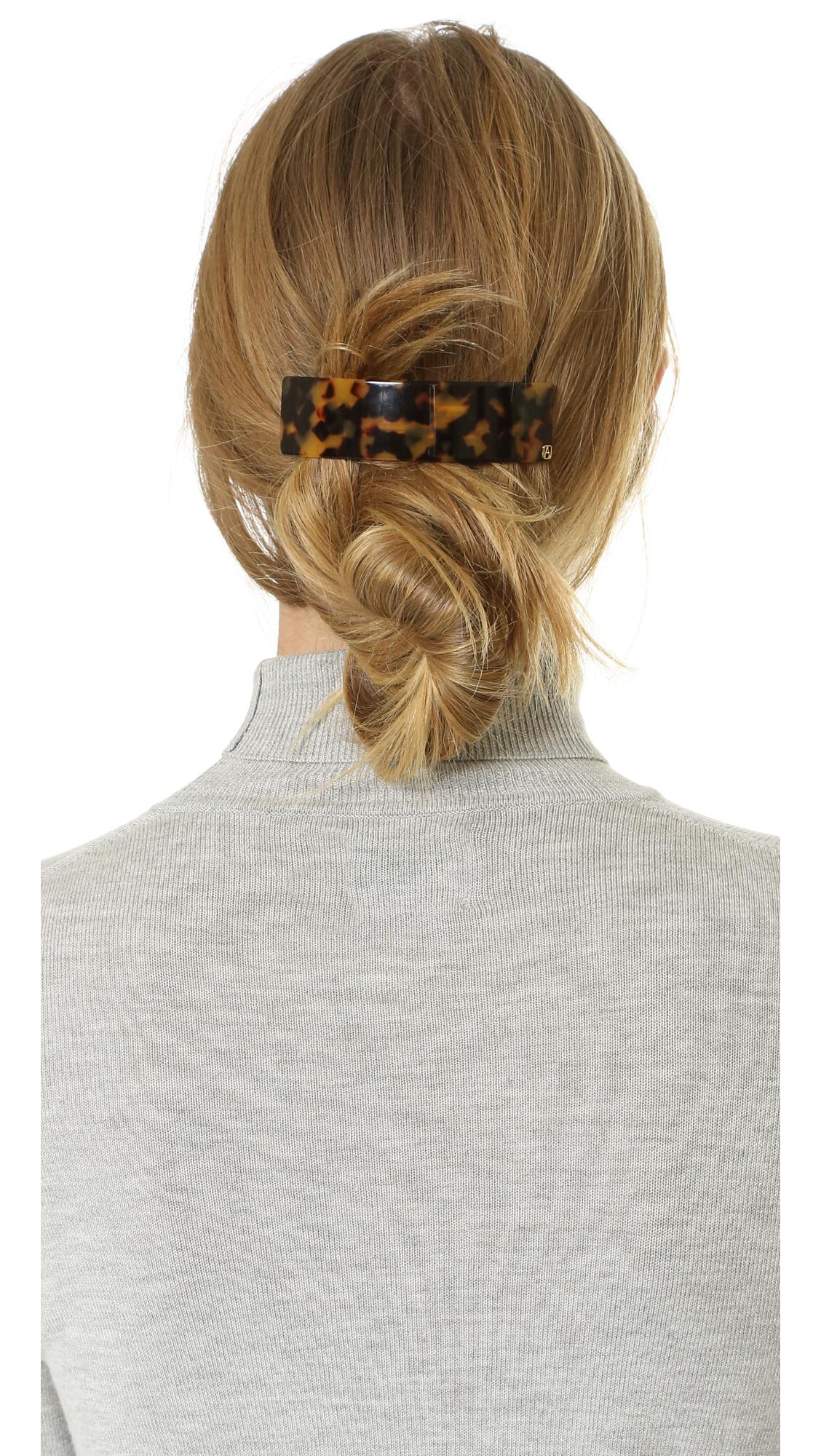 Alexandre De Paris Thick Hair Clip In Brown Lyst