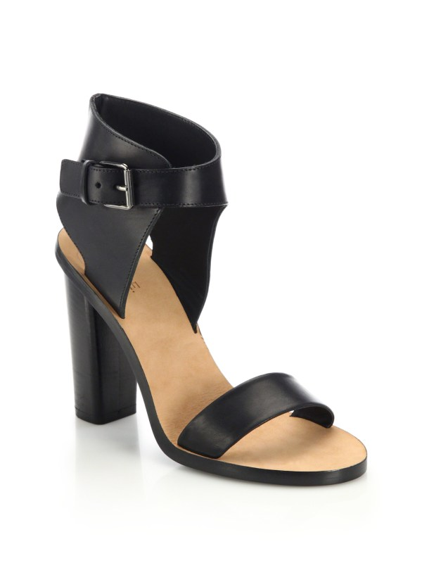Vince Black Leather Sandals