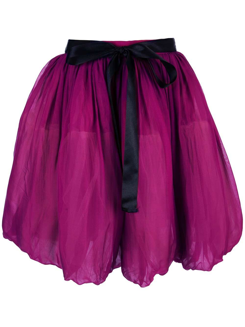 Lyst  Red Valentino Highwaisted Balloon Skirt in Purple