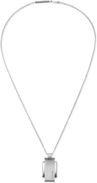 Calvin Klein Ck Mens Stainless Steel Polished Pendant