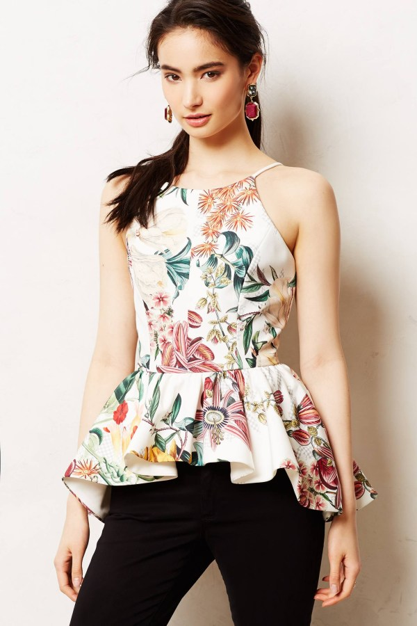 Peplum Top Anthropologie Dahlia