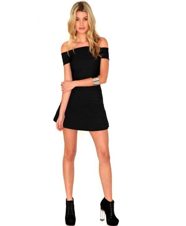 Lyst - Missguided Corina Bandage Bardot Skater Dress In