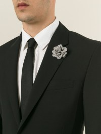 Lanvin Canvas Rose Tie Pin in Gray for Men | Lyst