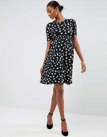 e43dbabe48a66 Lyst Asos Skater Dress With Pug Print In Black - Year of Clean Water
